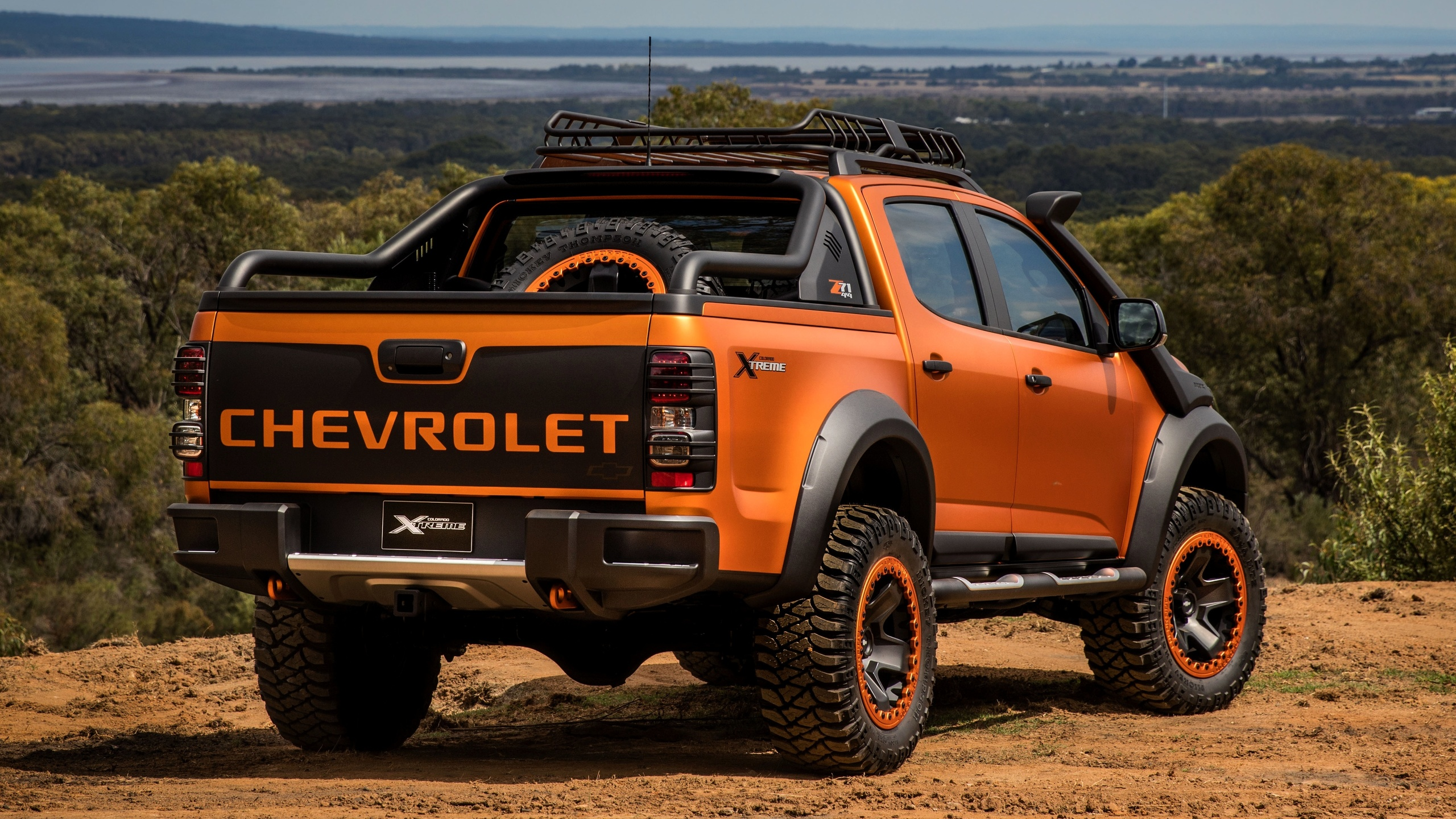 chevrolet, 4x4, colorado, z71, 2016, xtreme, concept, orange, hinten, pick-up