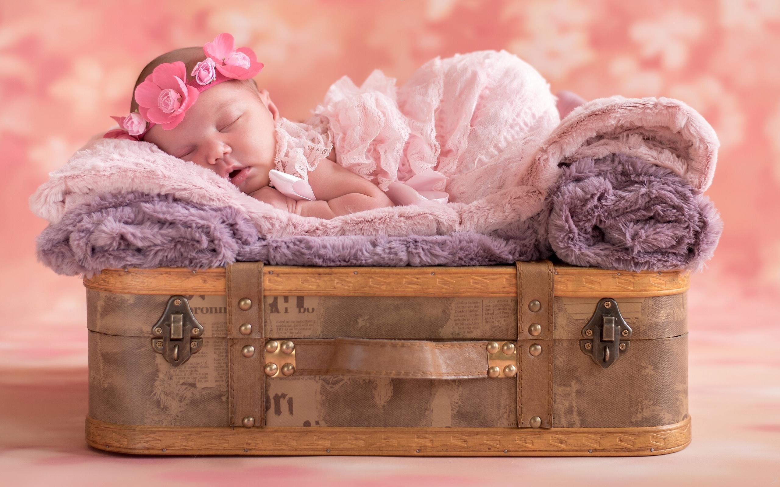 маленькая, девочка, спит