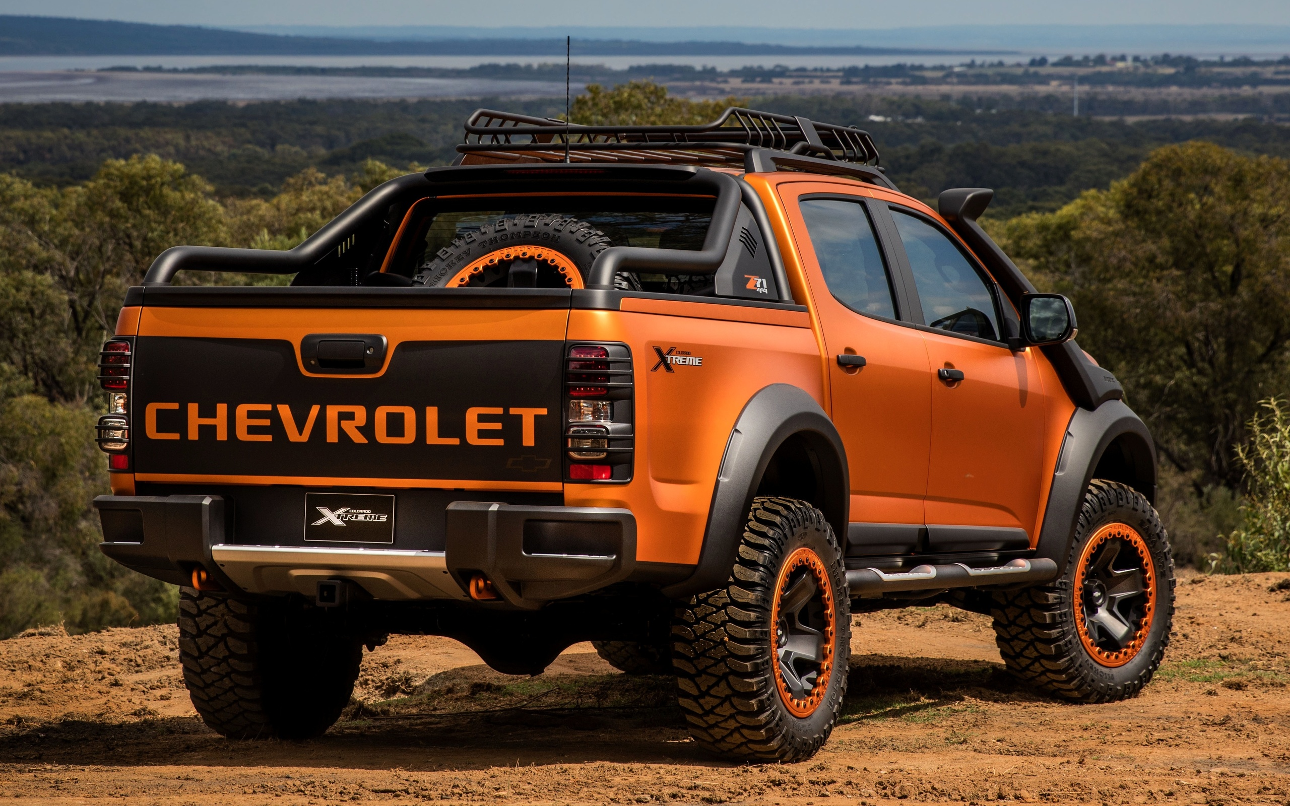 chevrolet, 4x4, colorado, z71, 2016, xtreme, concept, orange, hinten, pick-up