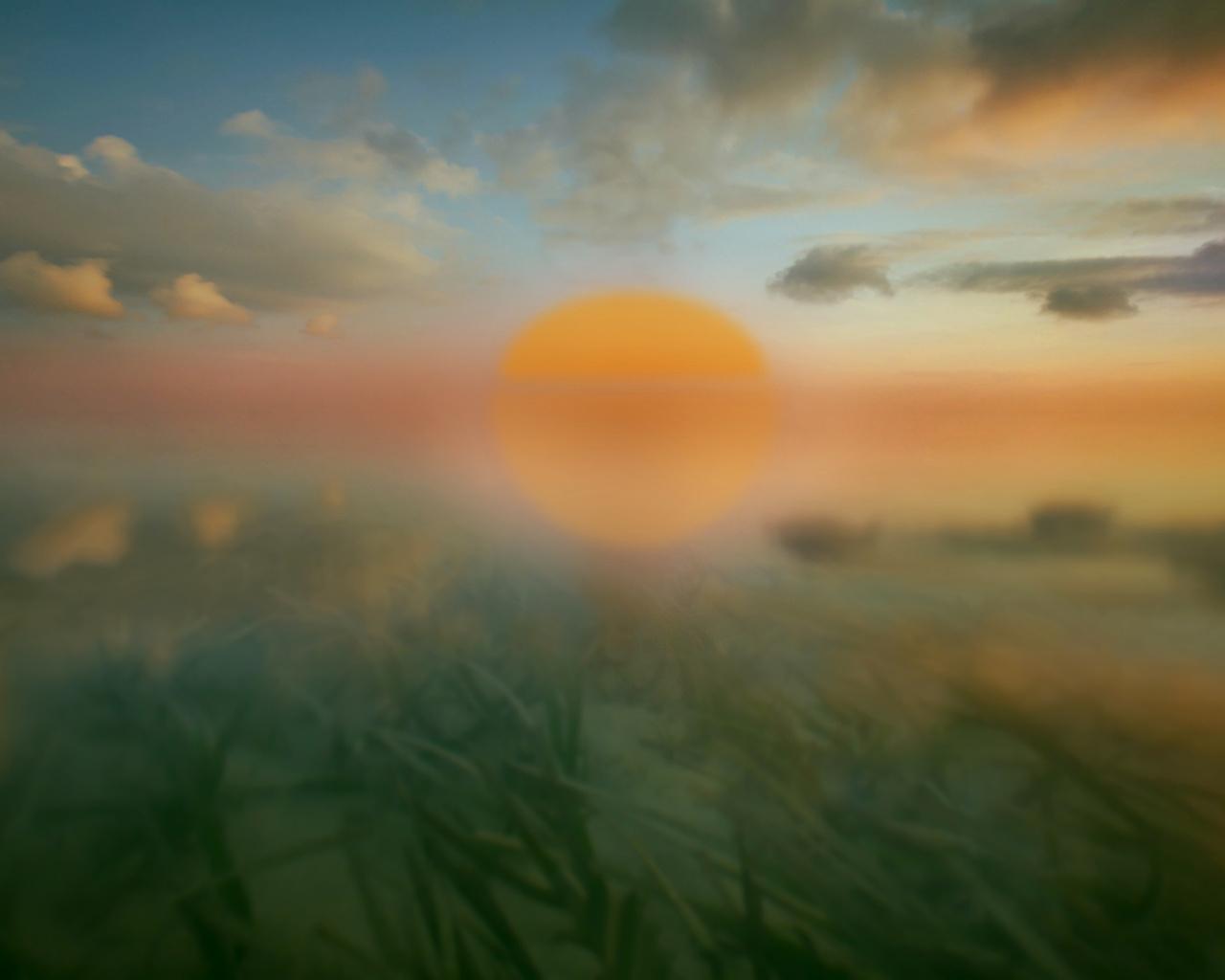 отражение, небо, море