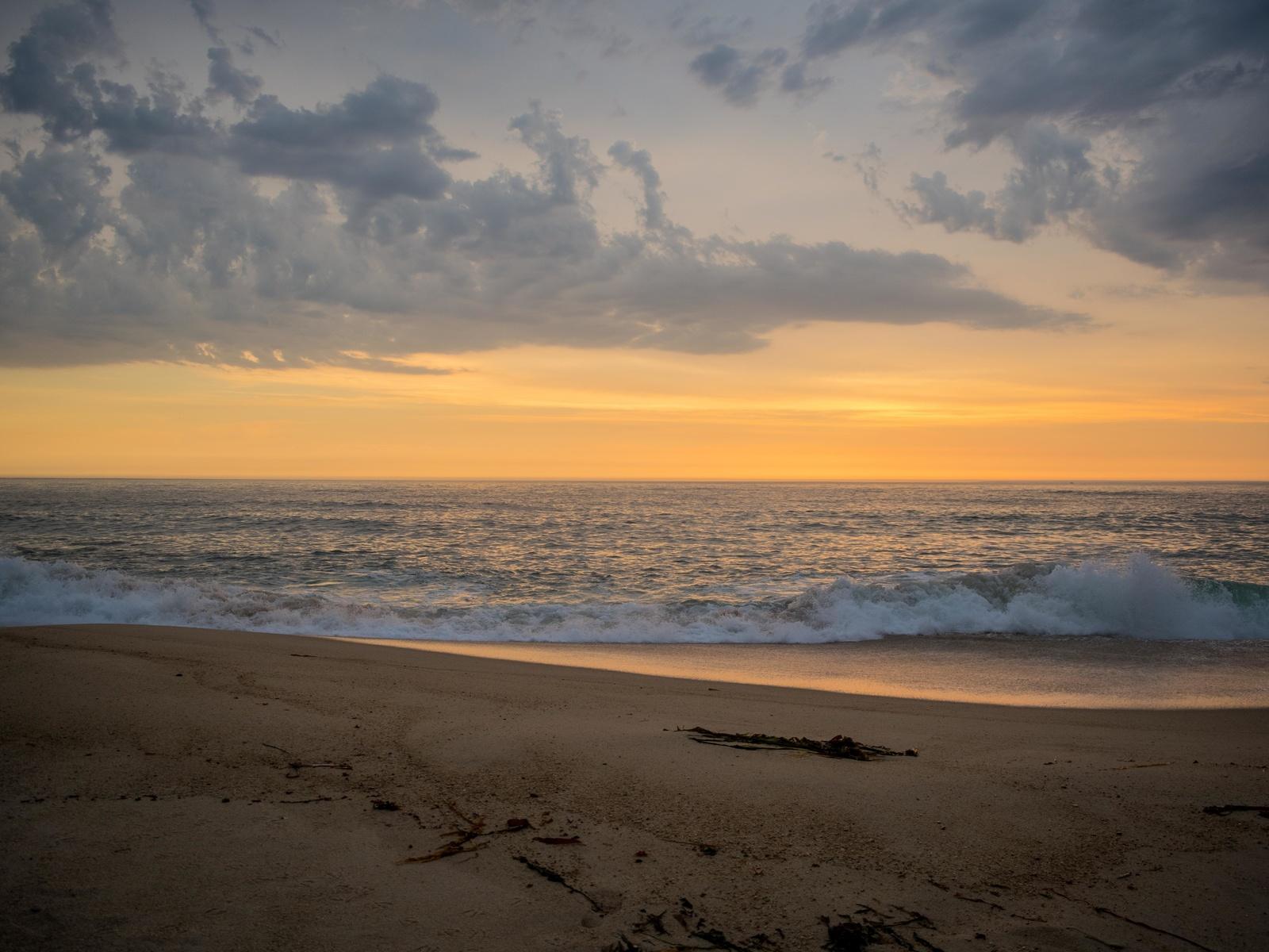горизонт, волны, песок, пляж