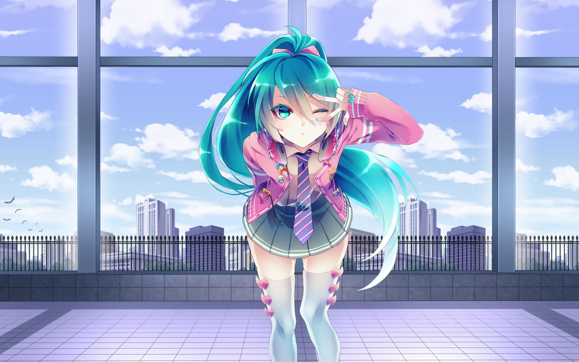 hatsune miku, vocaloid, girl, anime