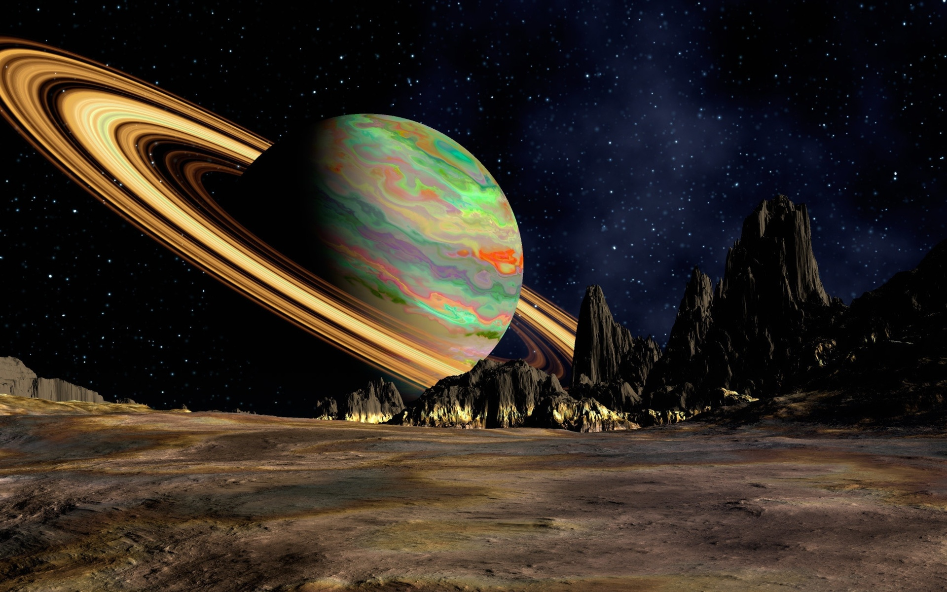 космос, обои для рабочего стола, земля плоская