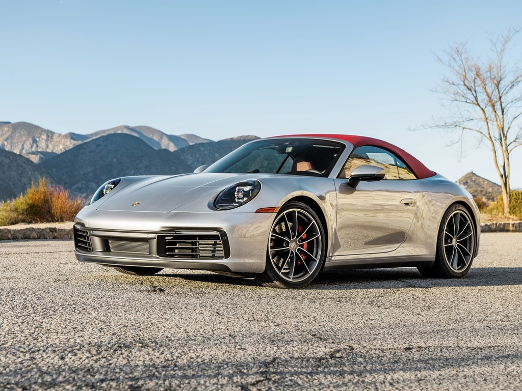porsche 911 carrera s, convertible, silver sports coupe, new silver 911 carrera s, german sports cars, porsch