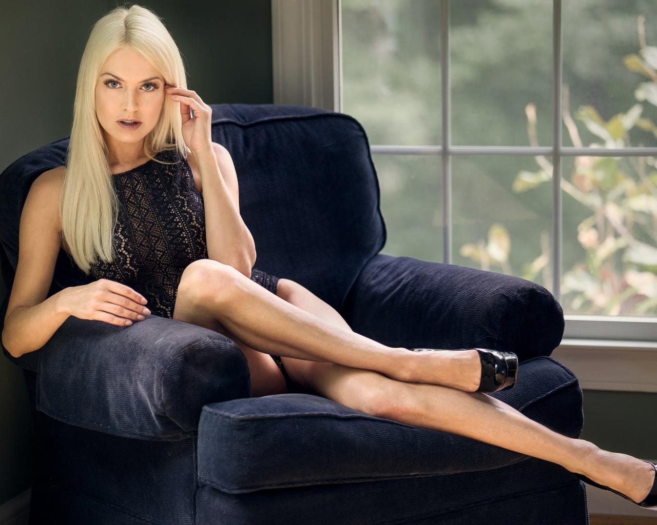 девушка, модель, поза, блондинка