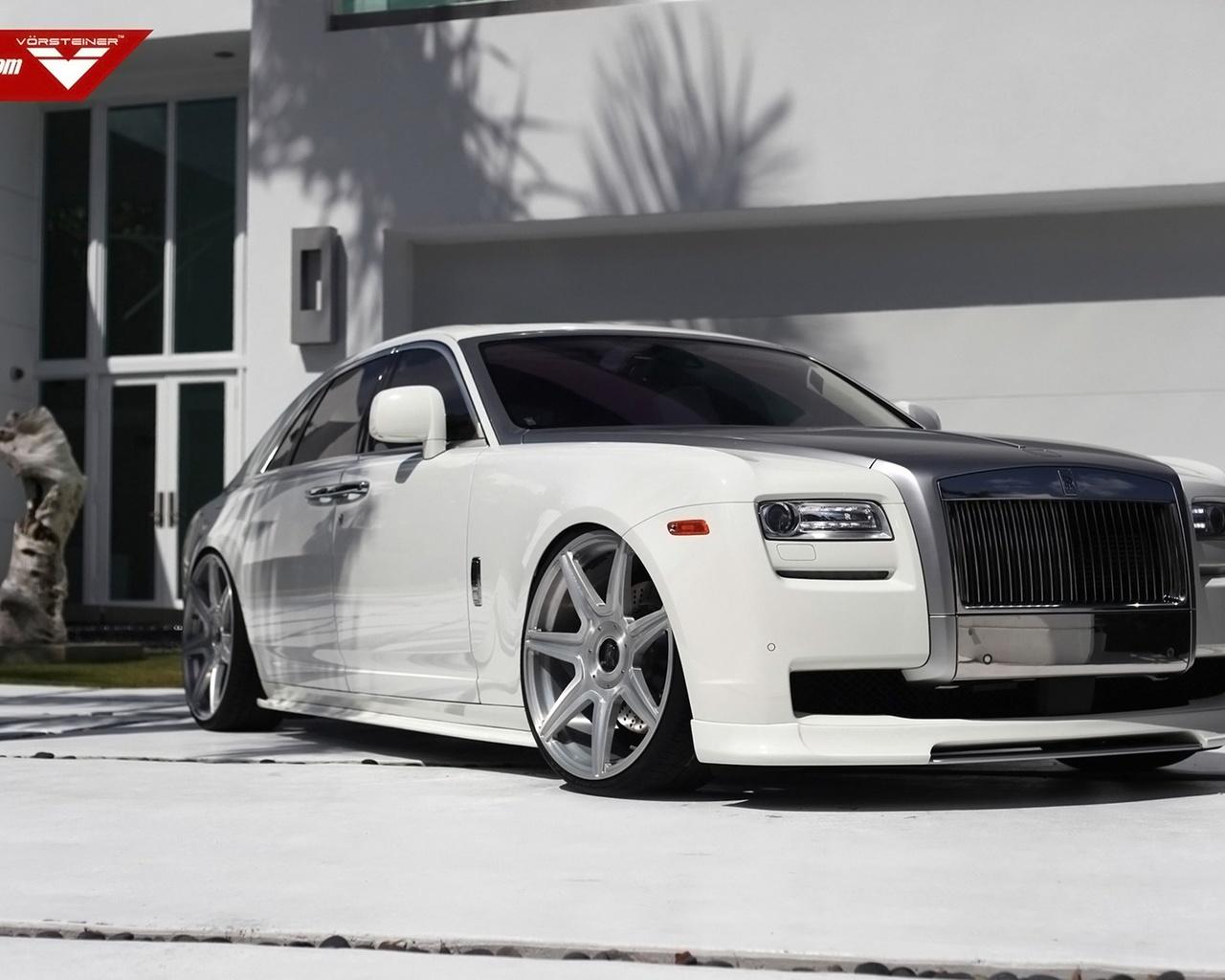 vorsteiner, rolls royce, ghost, supercar, car, tunning, white
