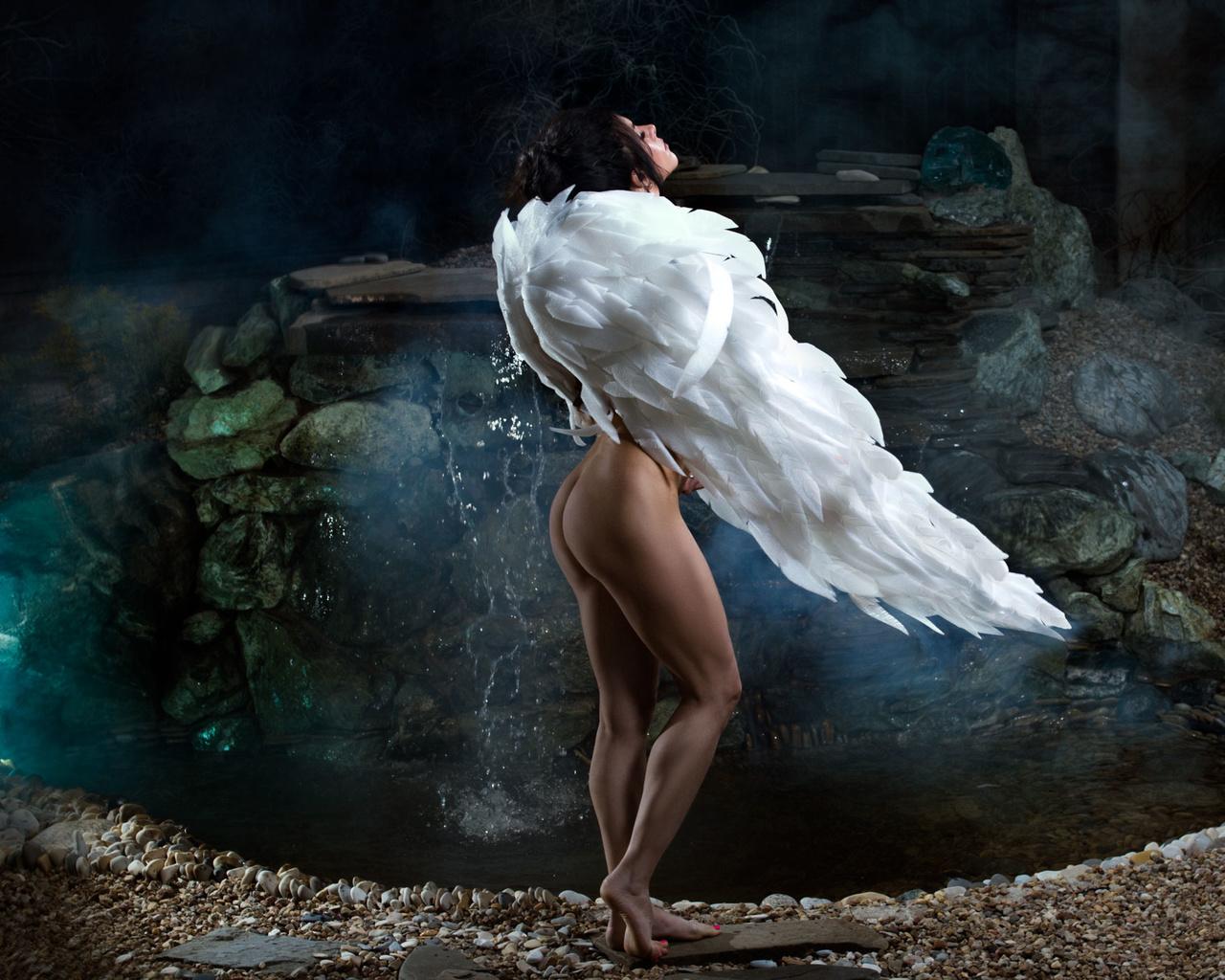 девушка, ангел, крылья
