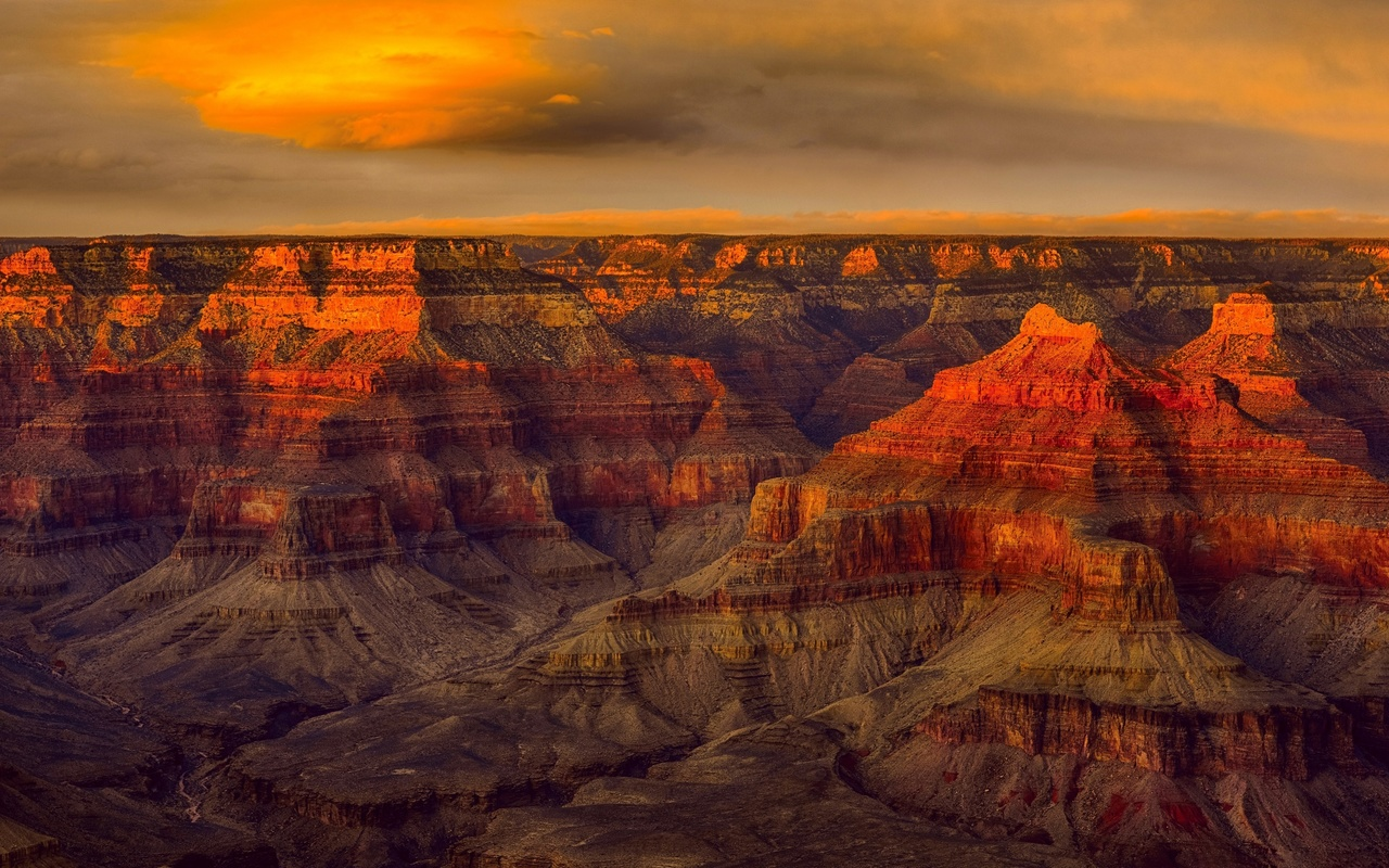 grand canyon national park, evening, rocks, sunset, red rocks, mountain landscape, colorado river, arizona