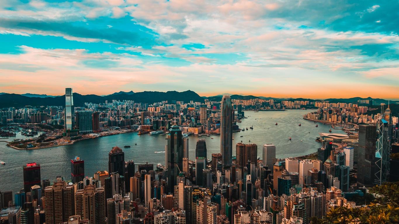city, metropolis, architecture, buildings, hong kong