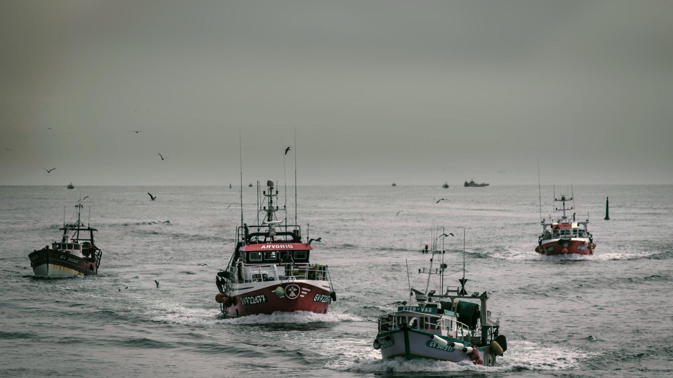 рыбаки, море, промысел