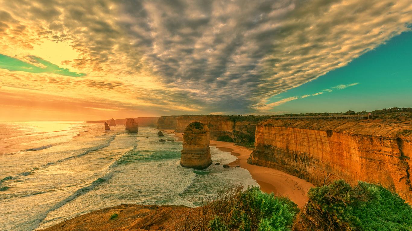 австралия, вечер, пейзаж