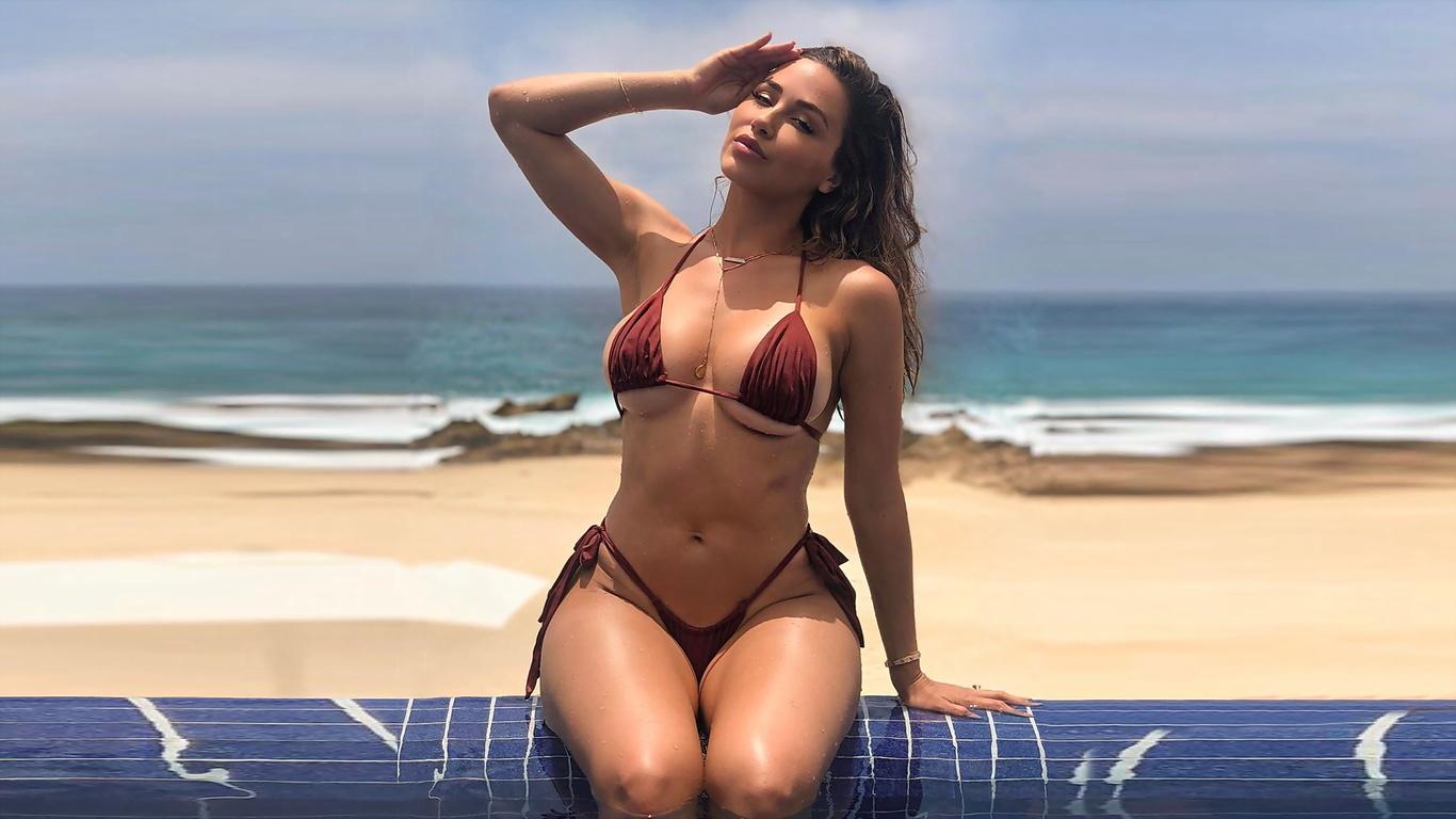 модель, ana cheri, самая, успешная, и, сексуальная, девушка, море,купальник,грудь,попа