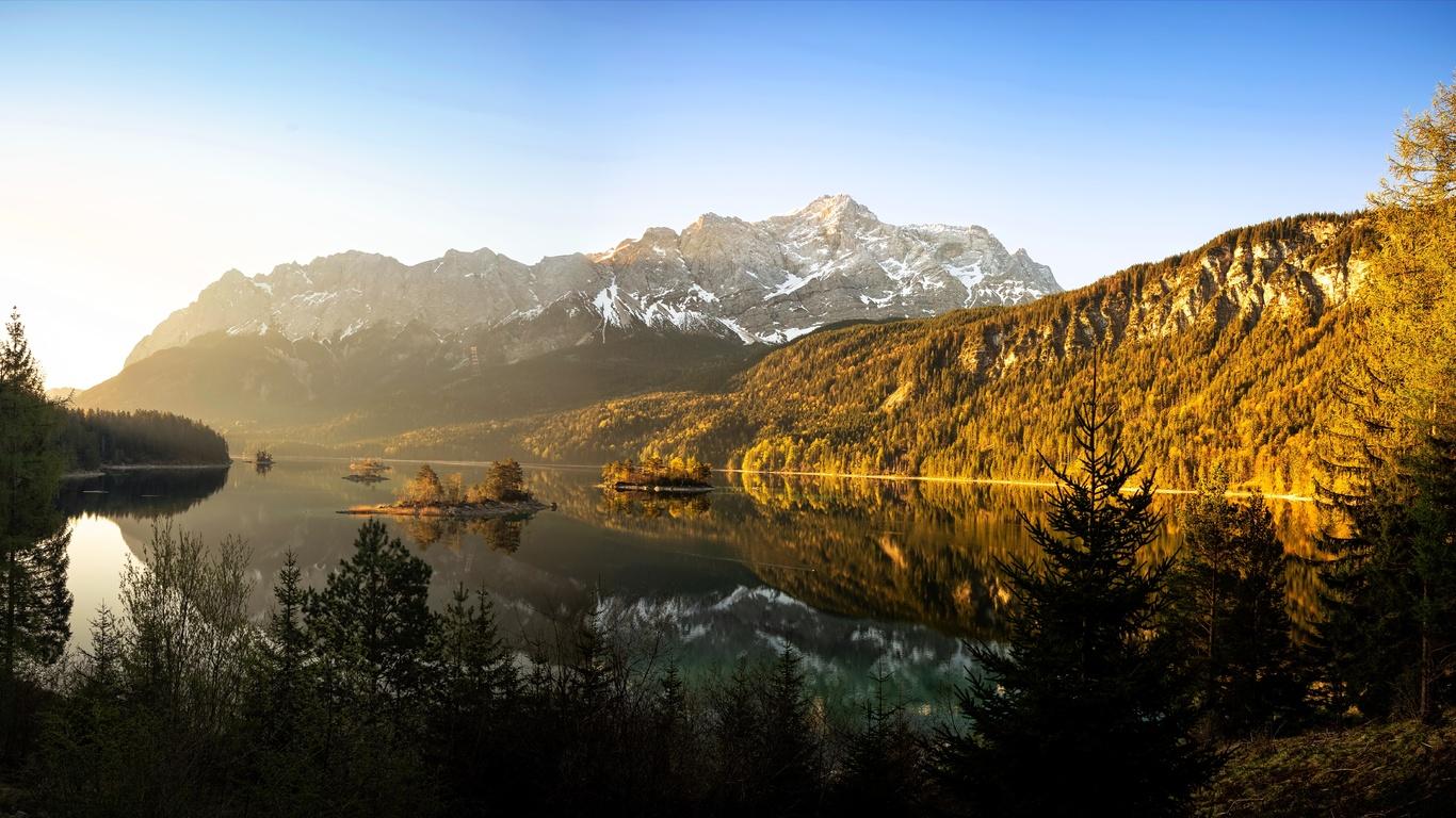 природа, bavaria, eibsee, landkreis garmisch-partenkirchen
