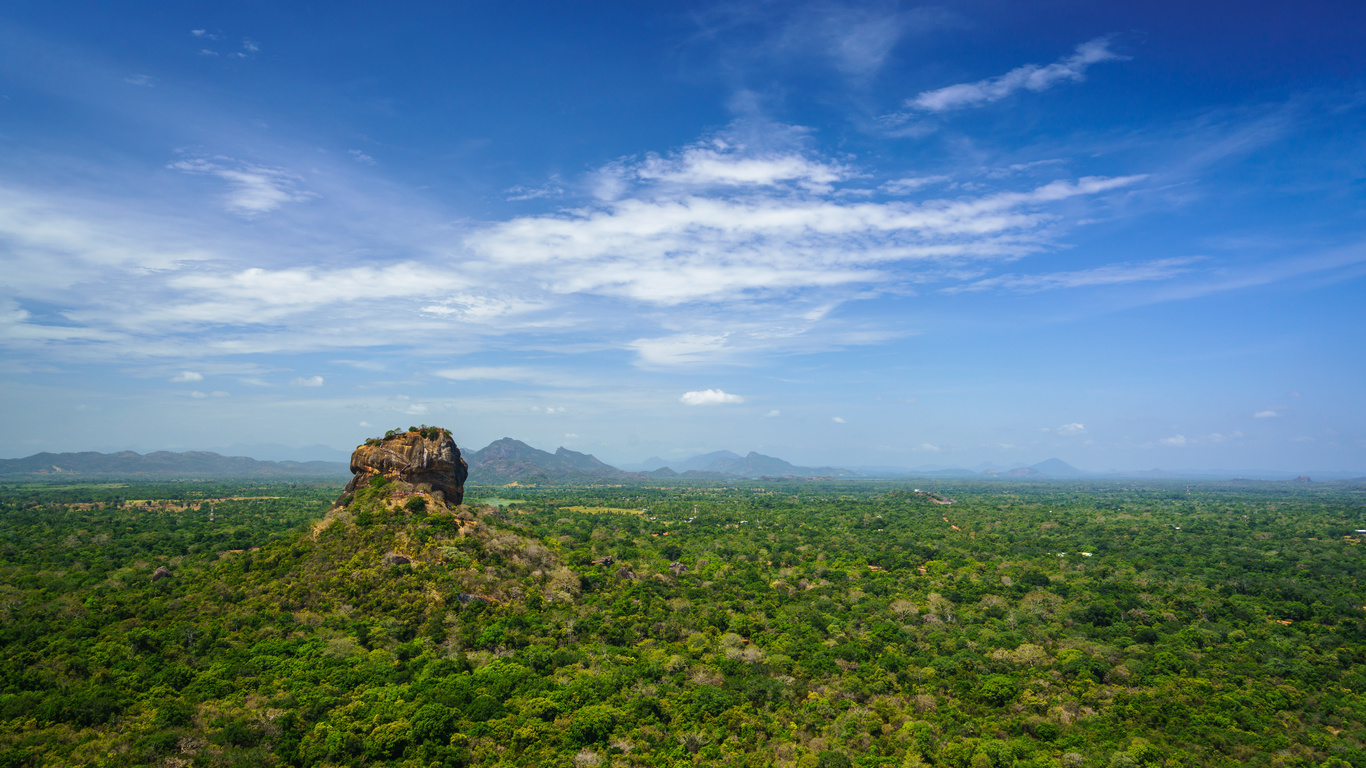 шри-ланка, горы, небо, sigiriya, matale district, central province, скала, природа