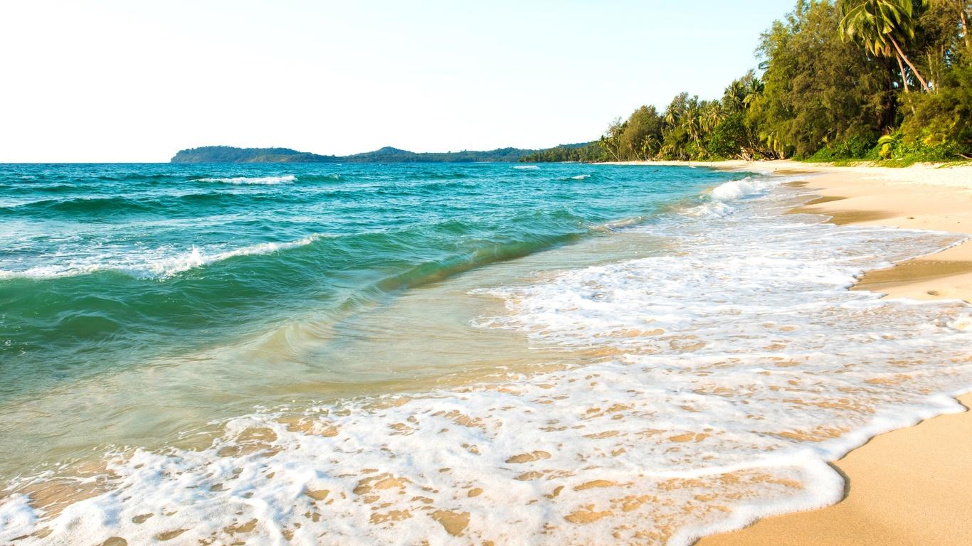 море, волны, тропики, пена, пляж, природа