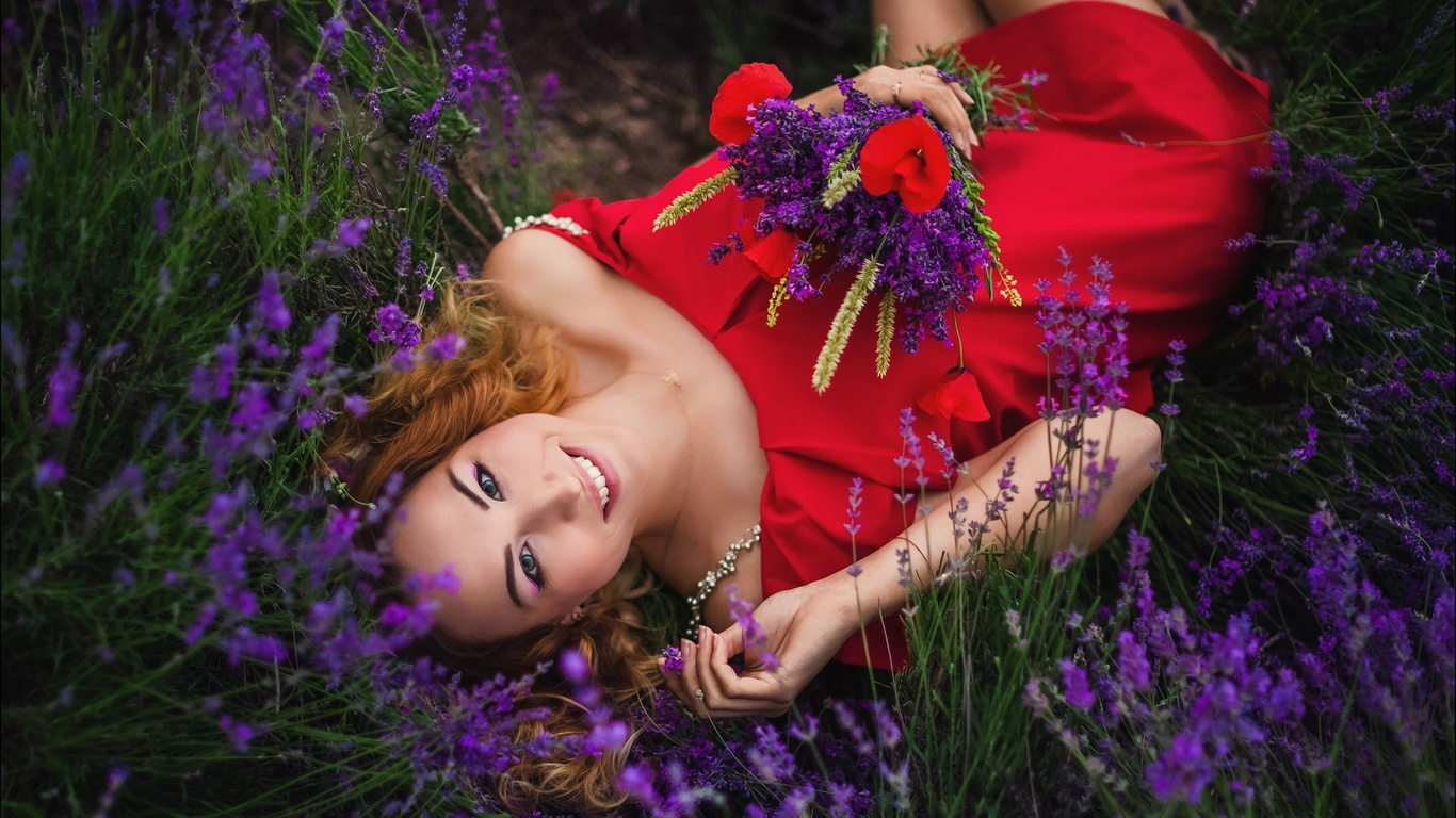 алексей латыш, девушка, позирует, цветы