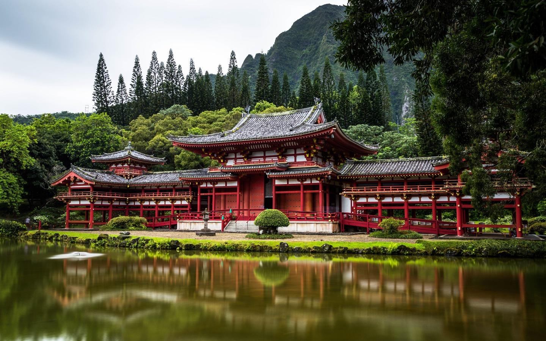 киото, Япония, храм, пагоды, city, uji, bedouin temple, город