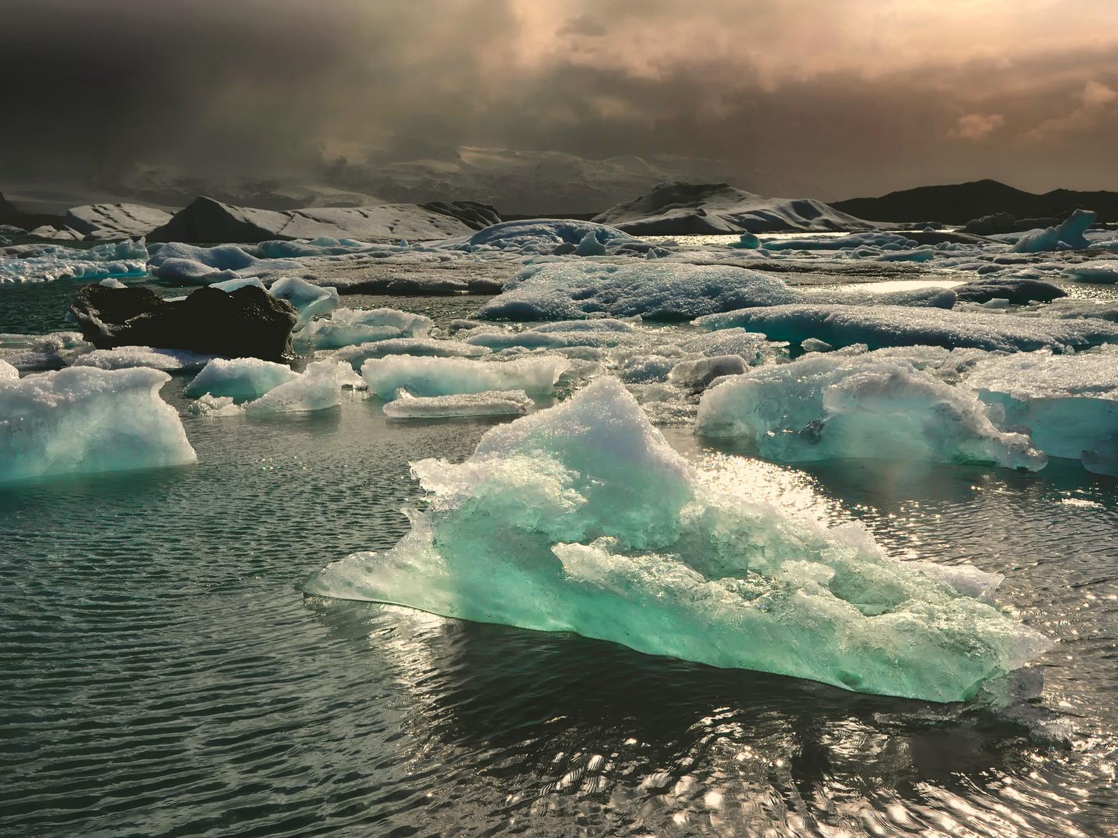 пейзаж, север, льды