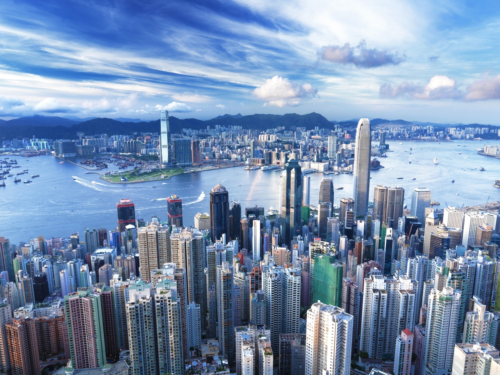 дома, небоскребы, облака, здания, china