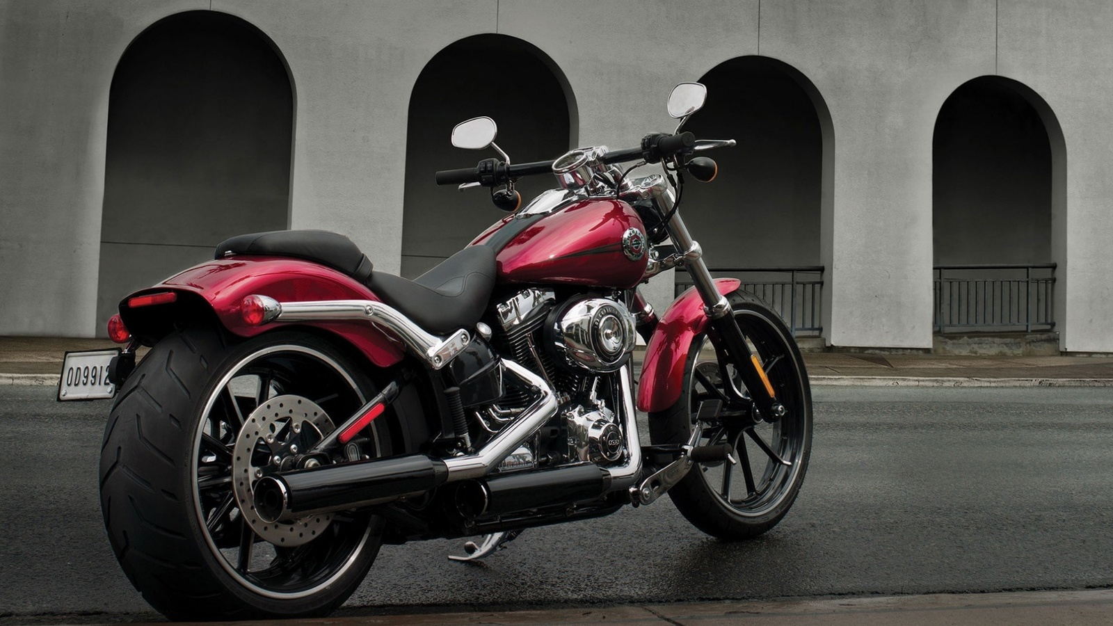 harley davidson, breakout, motorbike