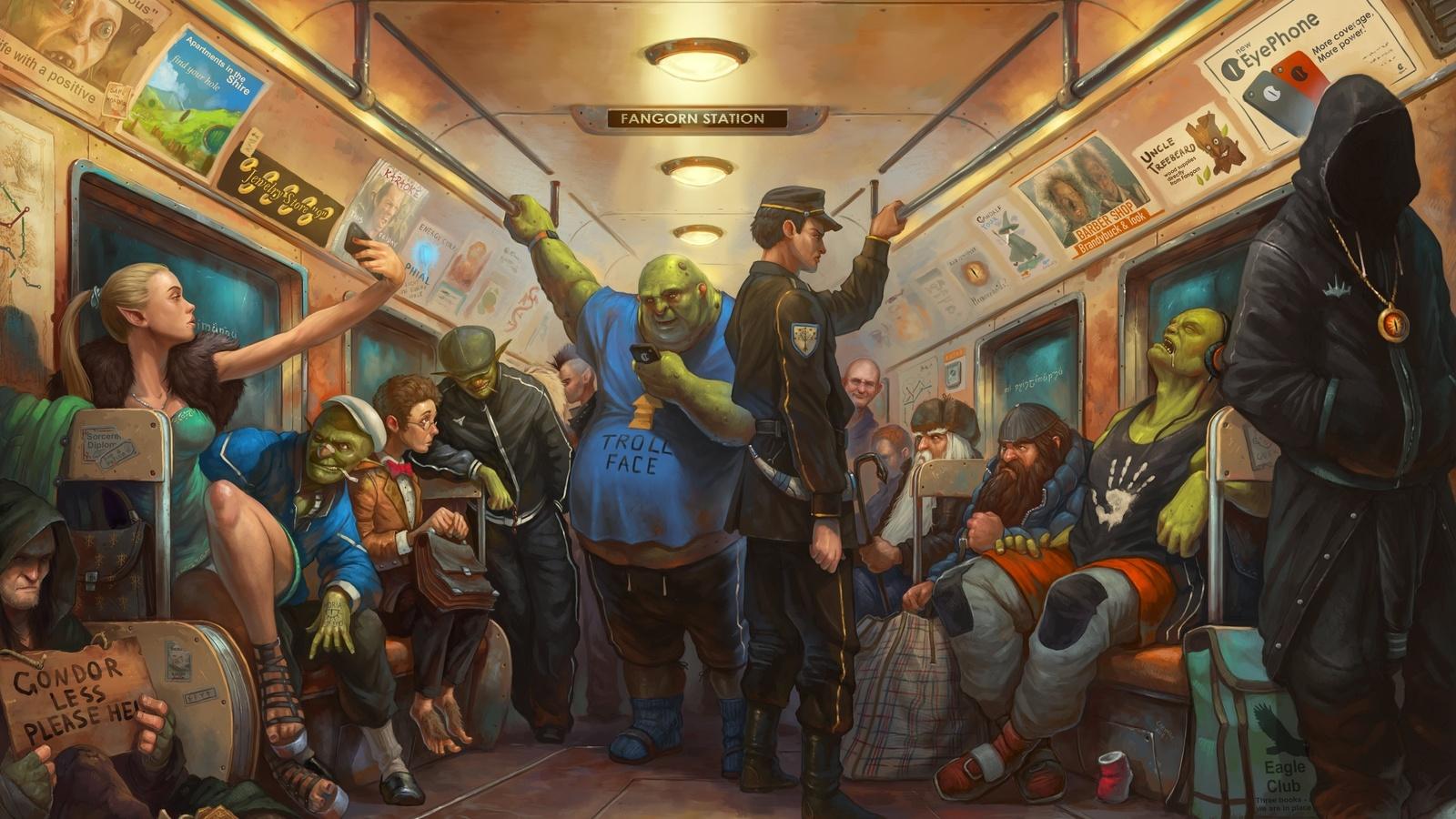 tony sart, антон Яковлев, метро, властелин колец