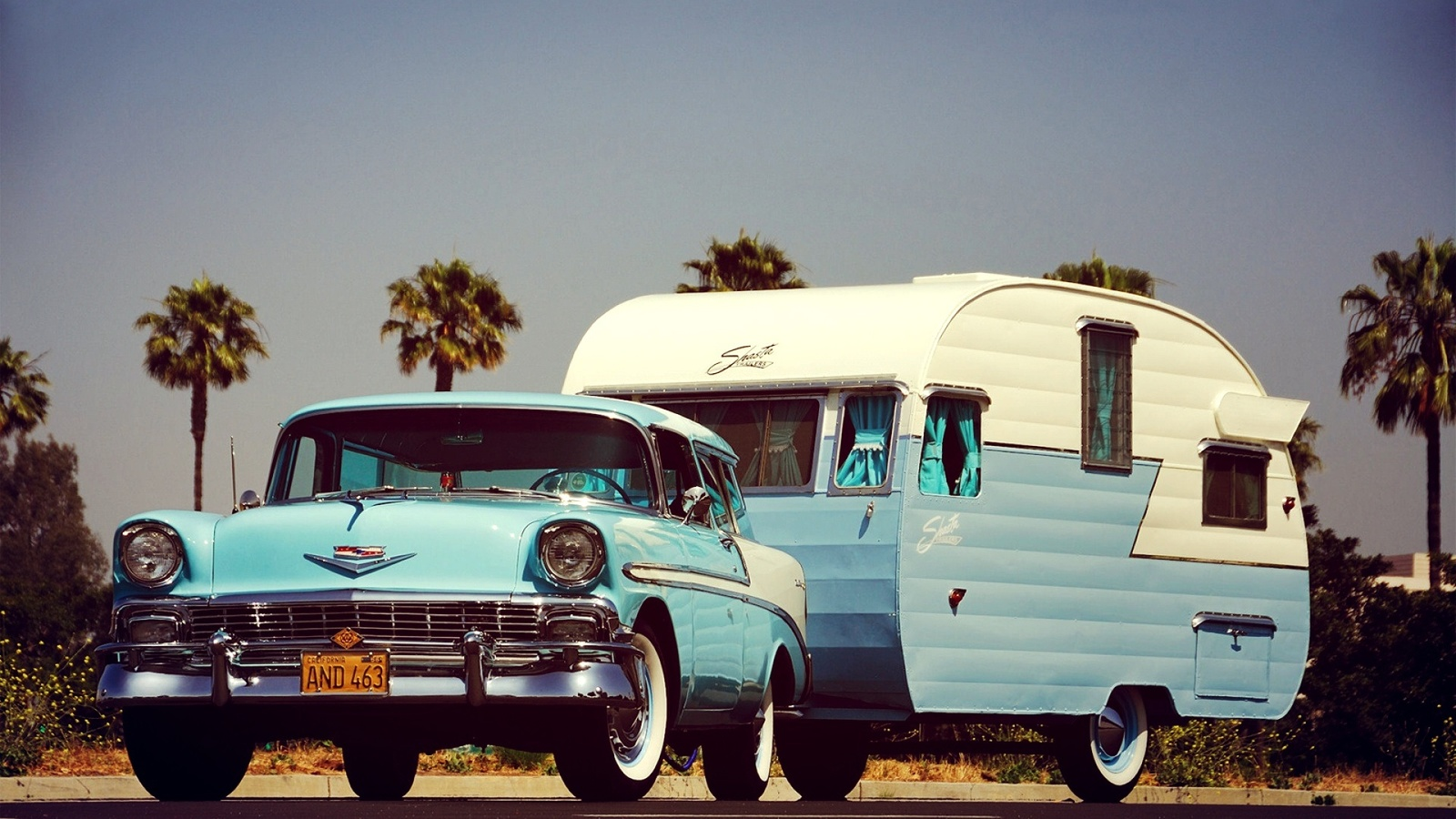 chevrolet, nomad, 1956, trailer