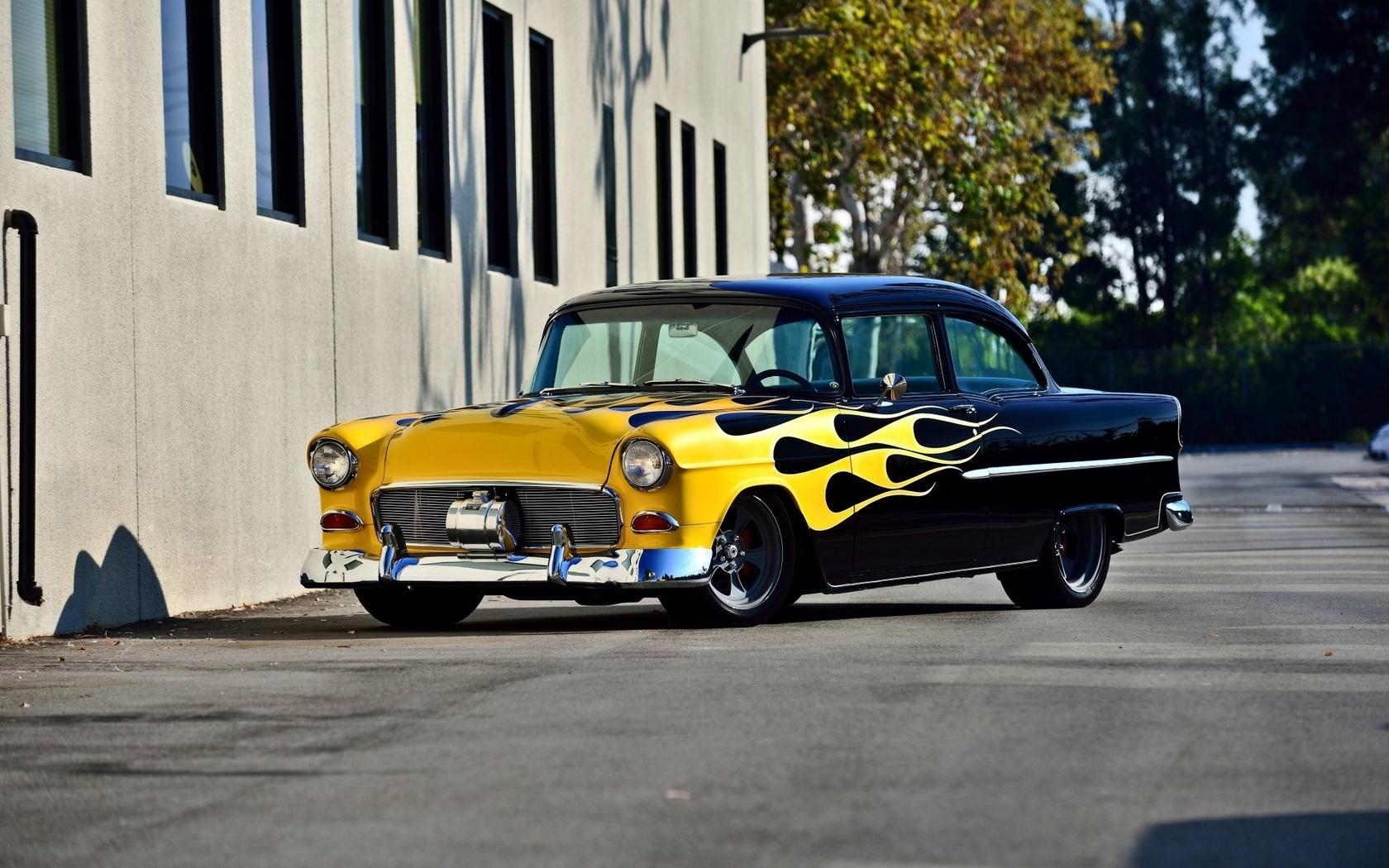 chevrolet, bel air, 1955, custom