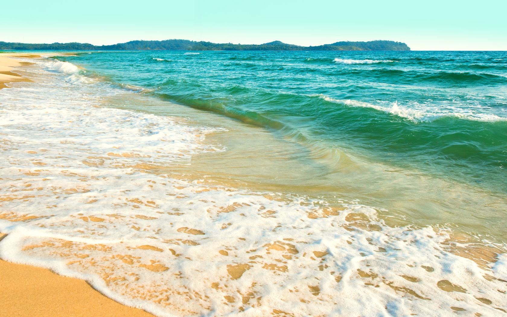 океан, небо, пейзаж