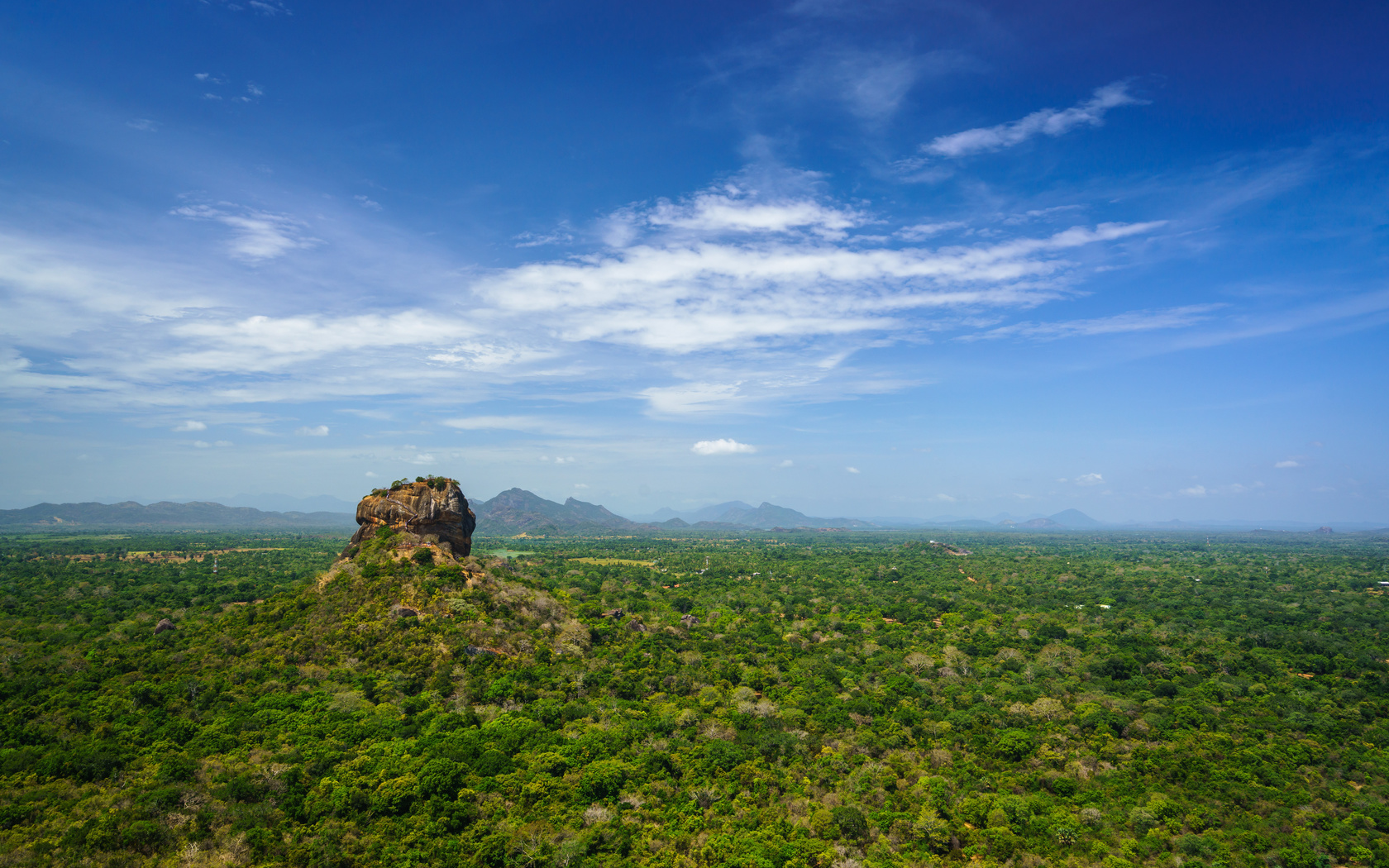 шри-ланка, горы, небо, sigiriya, matale district, central province, скала, природа