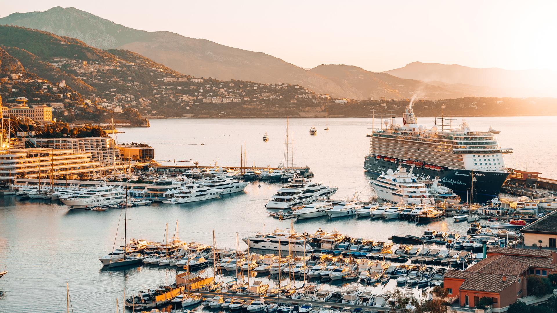 port, yachts, cruise ships, pier, monte carlo, monaco, cruise liner, tui cruises