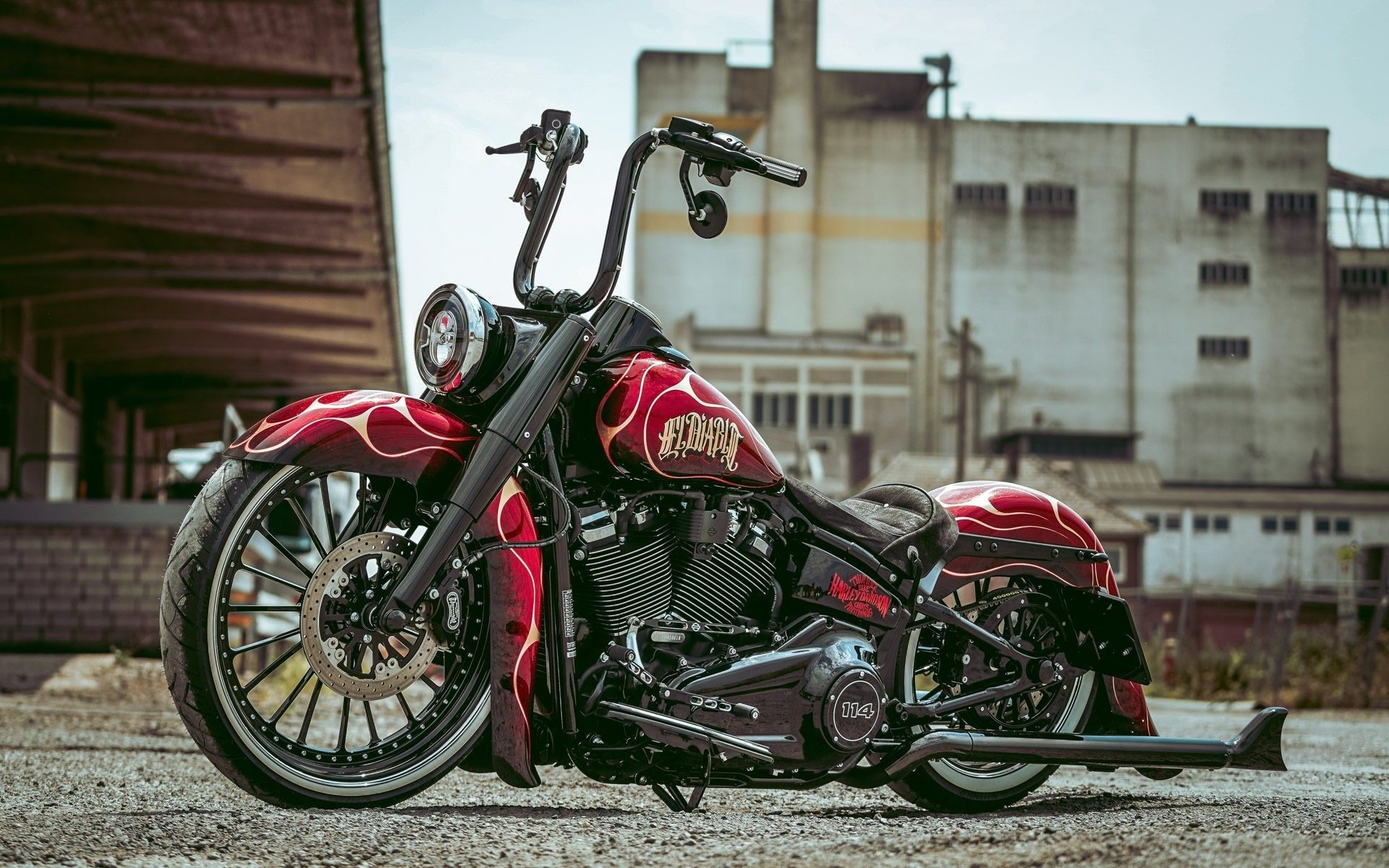 harley davidson, custom, thunderbike, el diablo