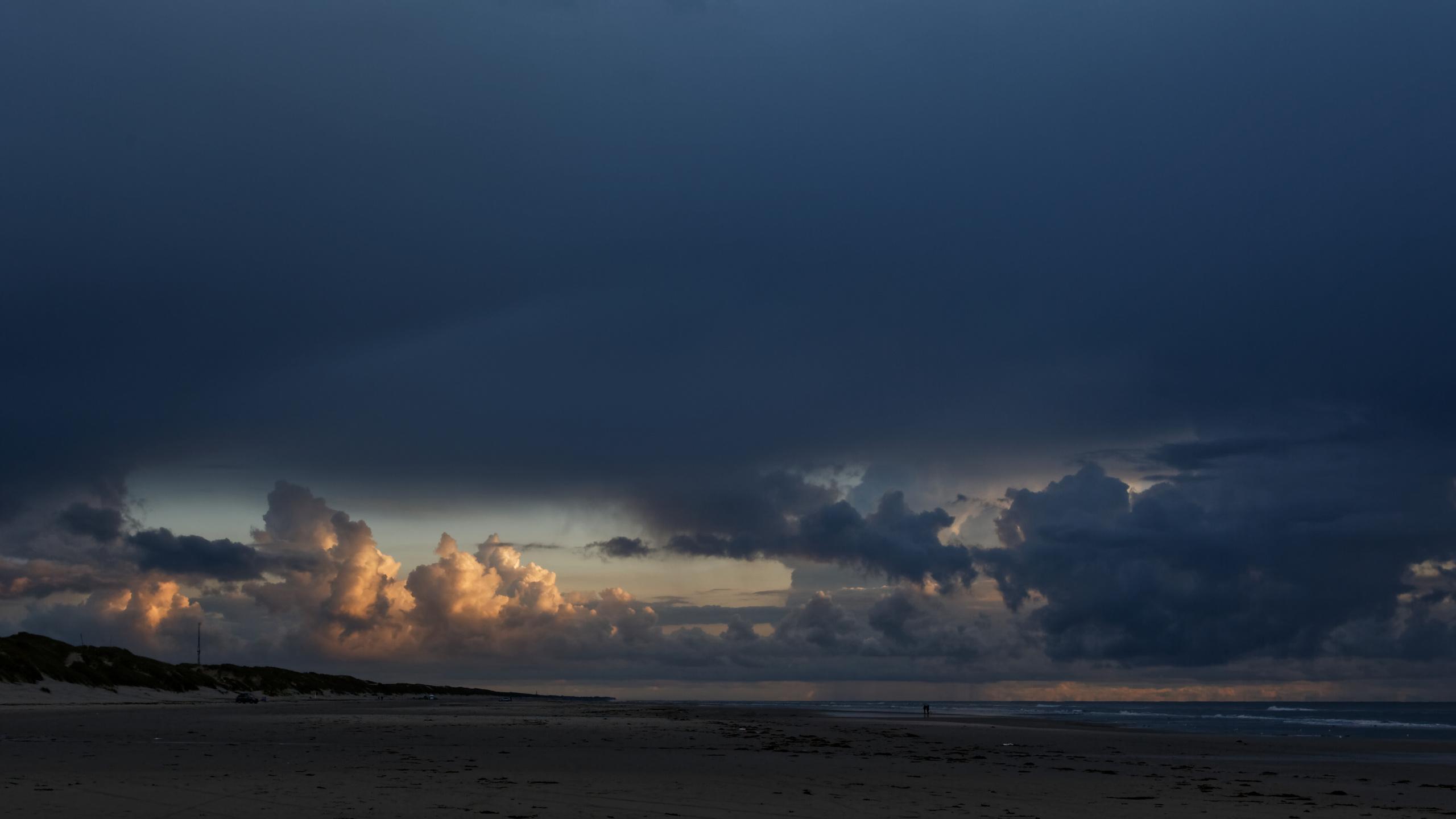 природа, море, берег, тучи, пасмурно