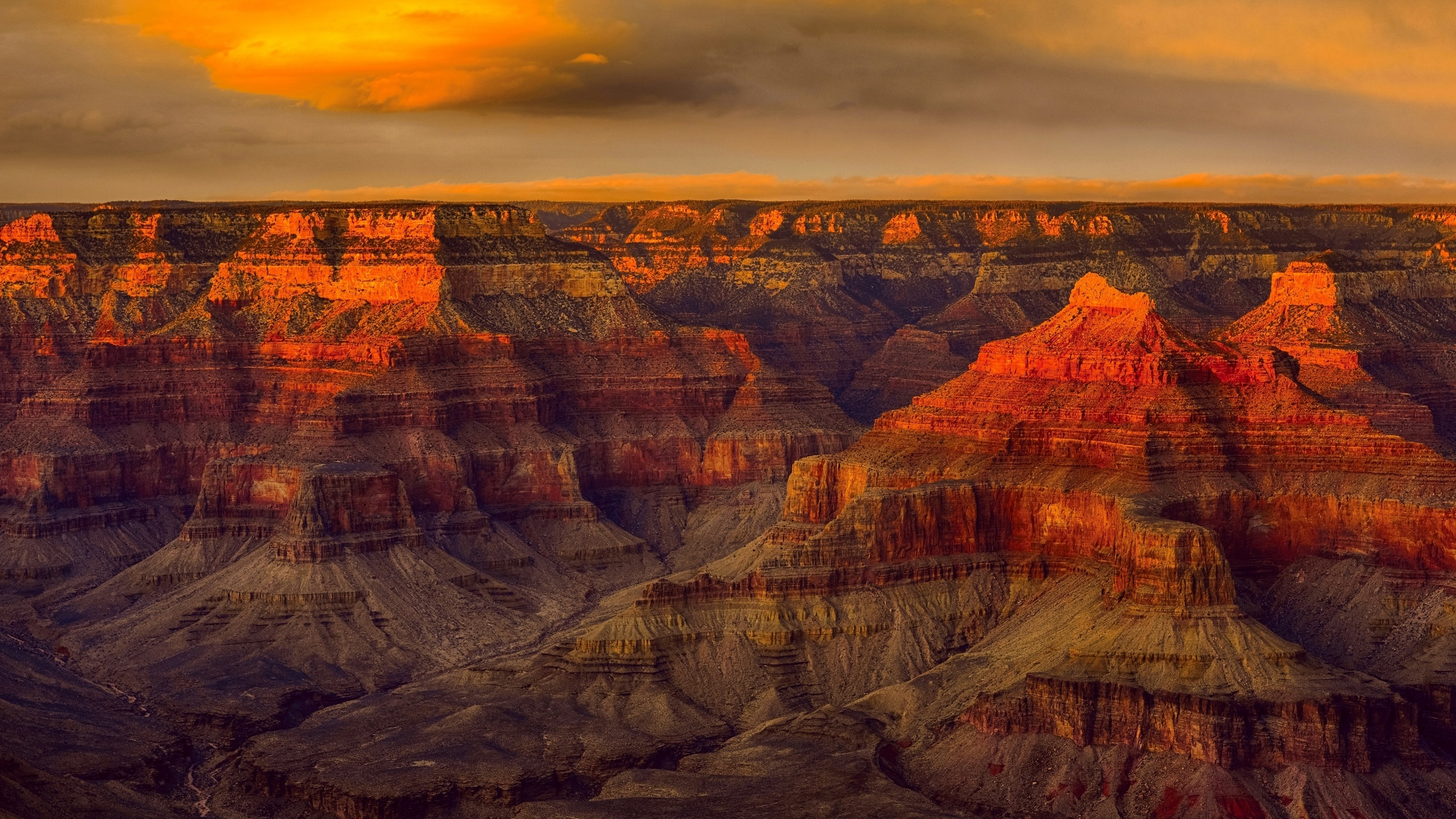 grand canyon national park, evening, rocks, sunset, red rocks, mountain landscape, colorado river, arizona