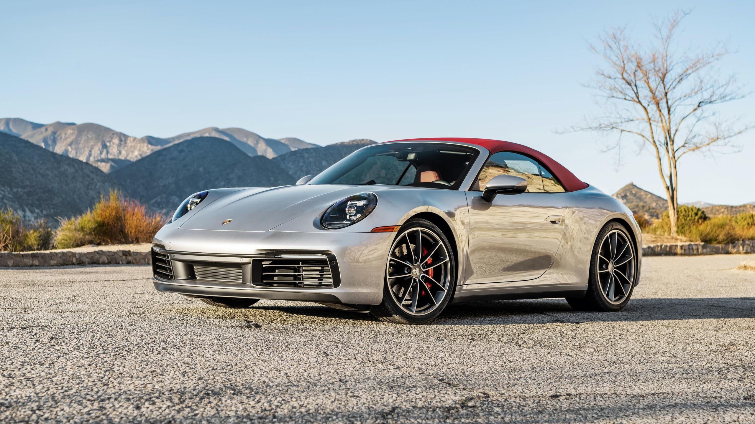 porsche 911 carrera s, convertible, silver sports coupe, new silver 911 carrera s, german sports cars, porsch