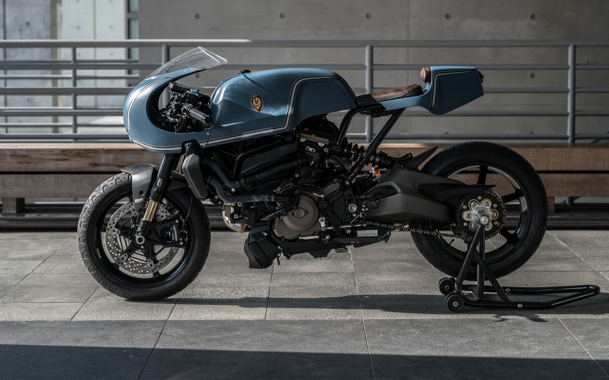 мотоцикл, ducati, monstro, cafe racer