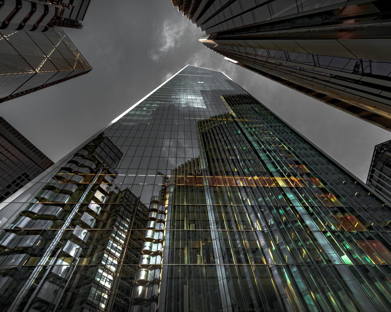 modern business center, glass skyscrapers facade, modern buildings, skyscrapers, beautiful buildings, business centers
