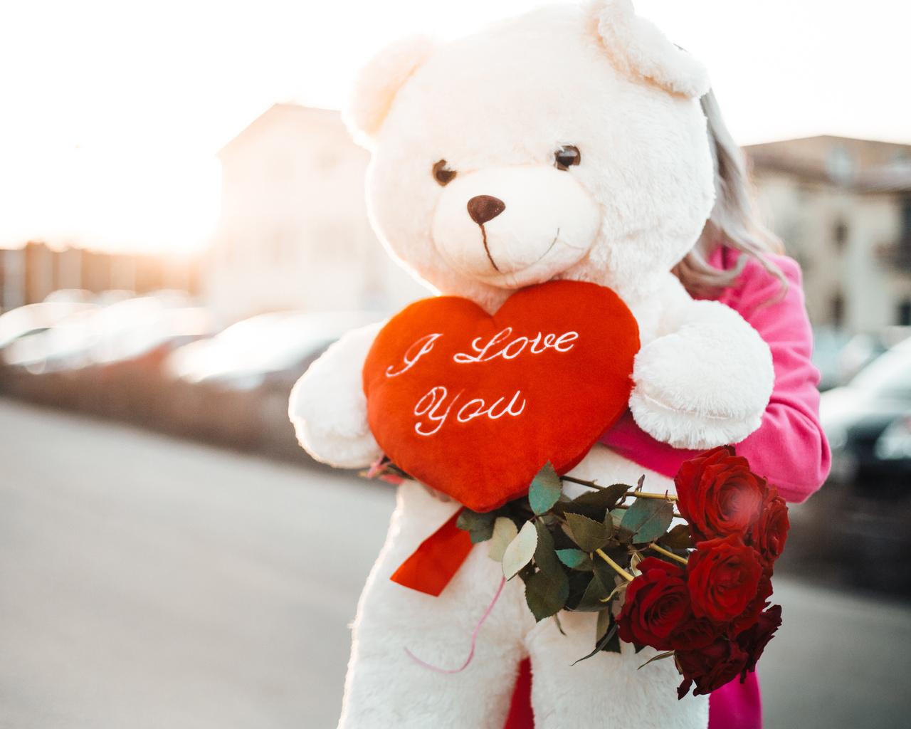 медведи, игрушка, сердце