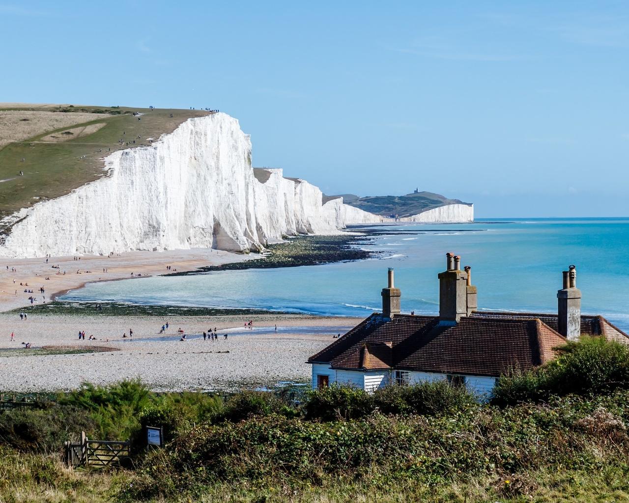 побережье, море, англия, seven sisters, national park, east sussex, скала, природа