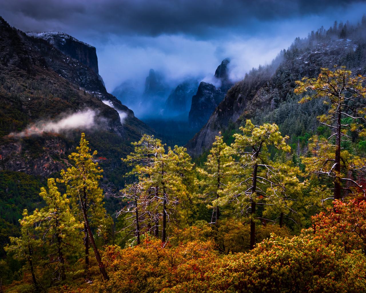 природа, пейзаж, деревья, горы, калифорния, california, национальный парк йосемити, yosemite national park, сьерра-невада, sierra nevada