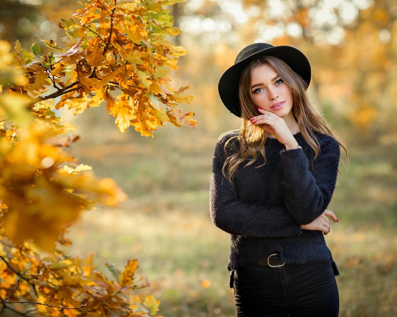 ольга бойко, осень, девушка, красива