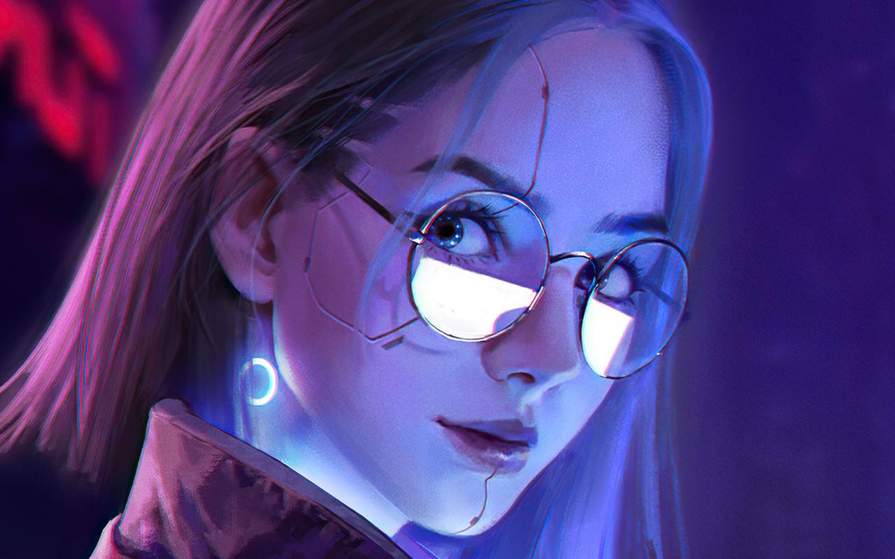 девушка, cyberpunk 2077, арт