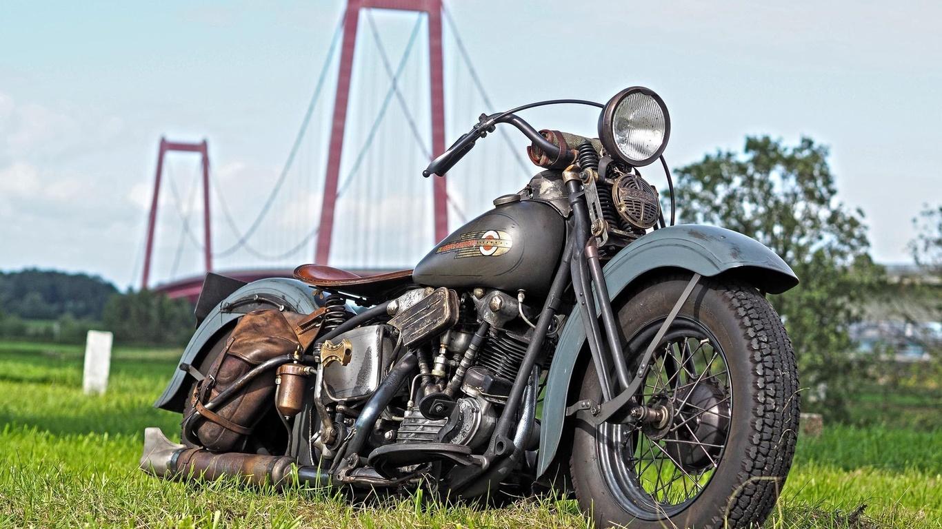 harley davidson, мотоцикл, ретро