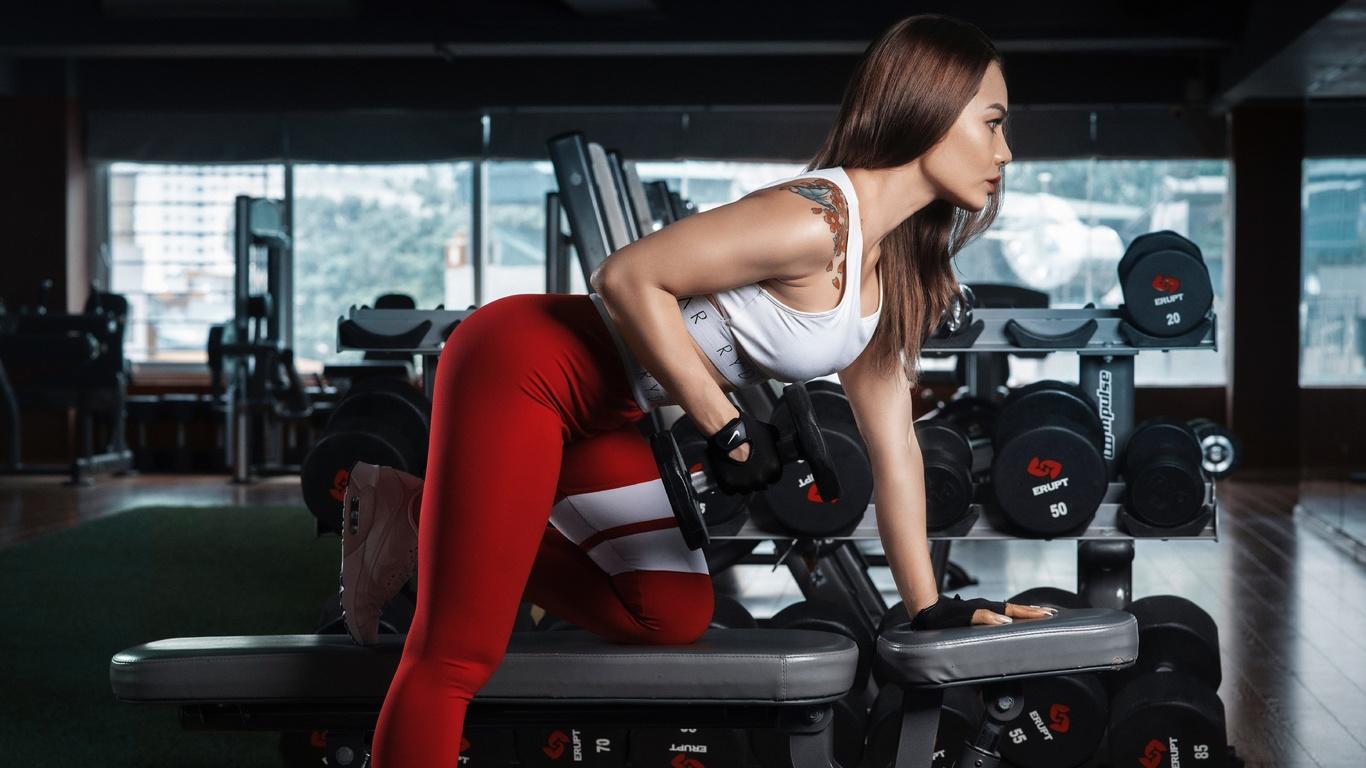 тренажерный зал, фитнес, спортивная