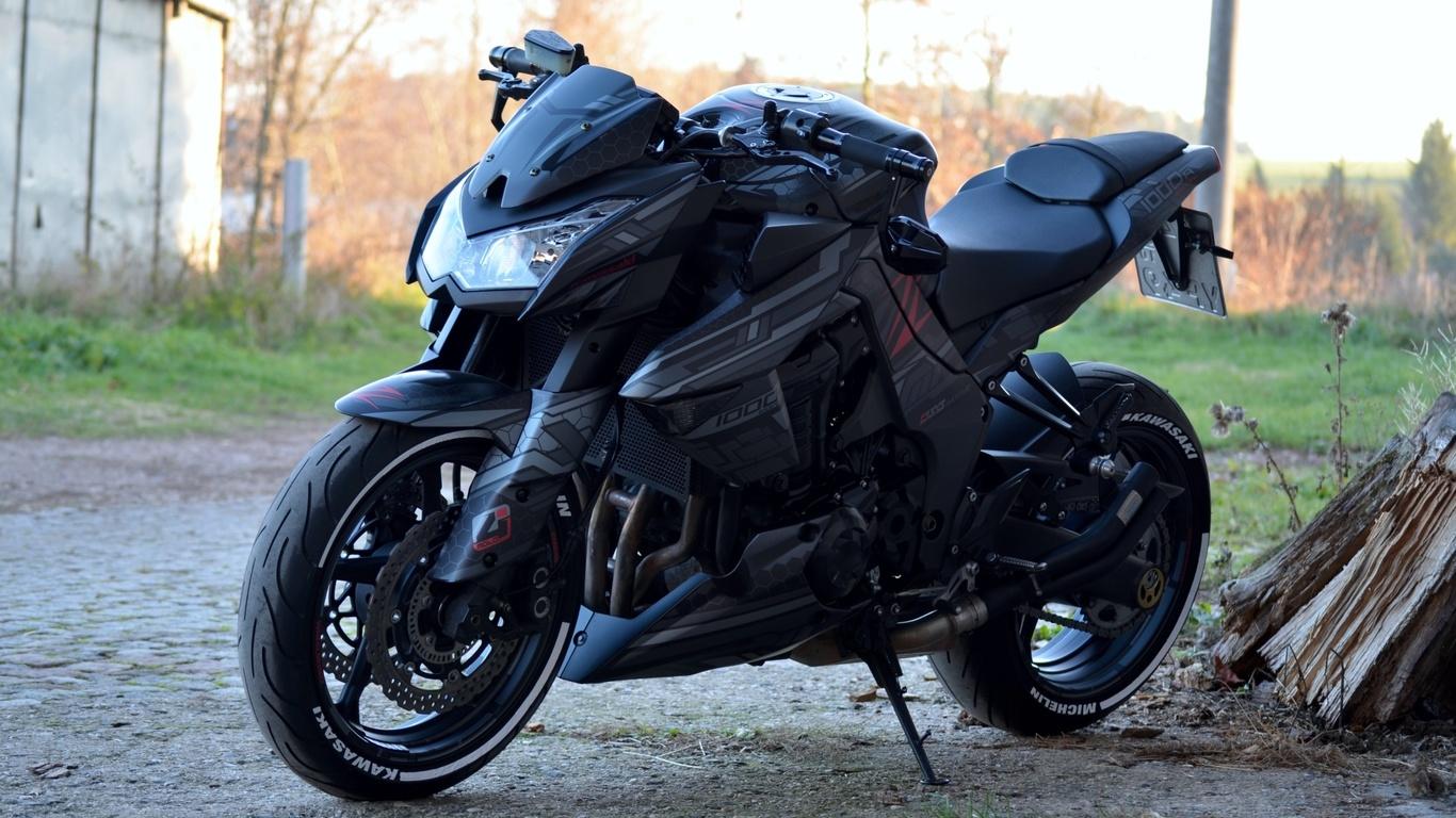kawasaki, z1000, мотоцикл
