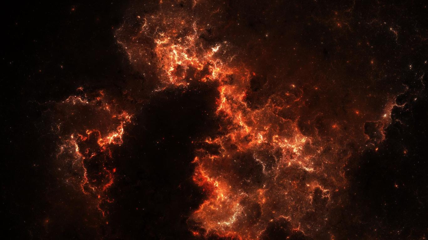 абстракция, облако, свечение, туманность