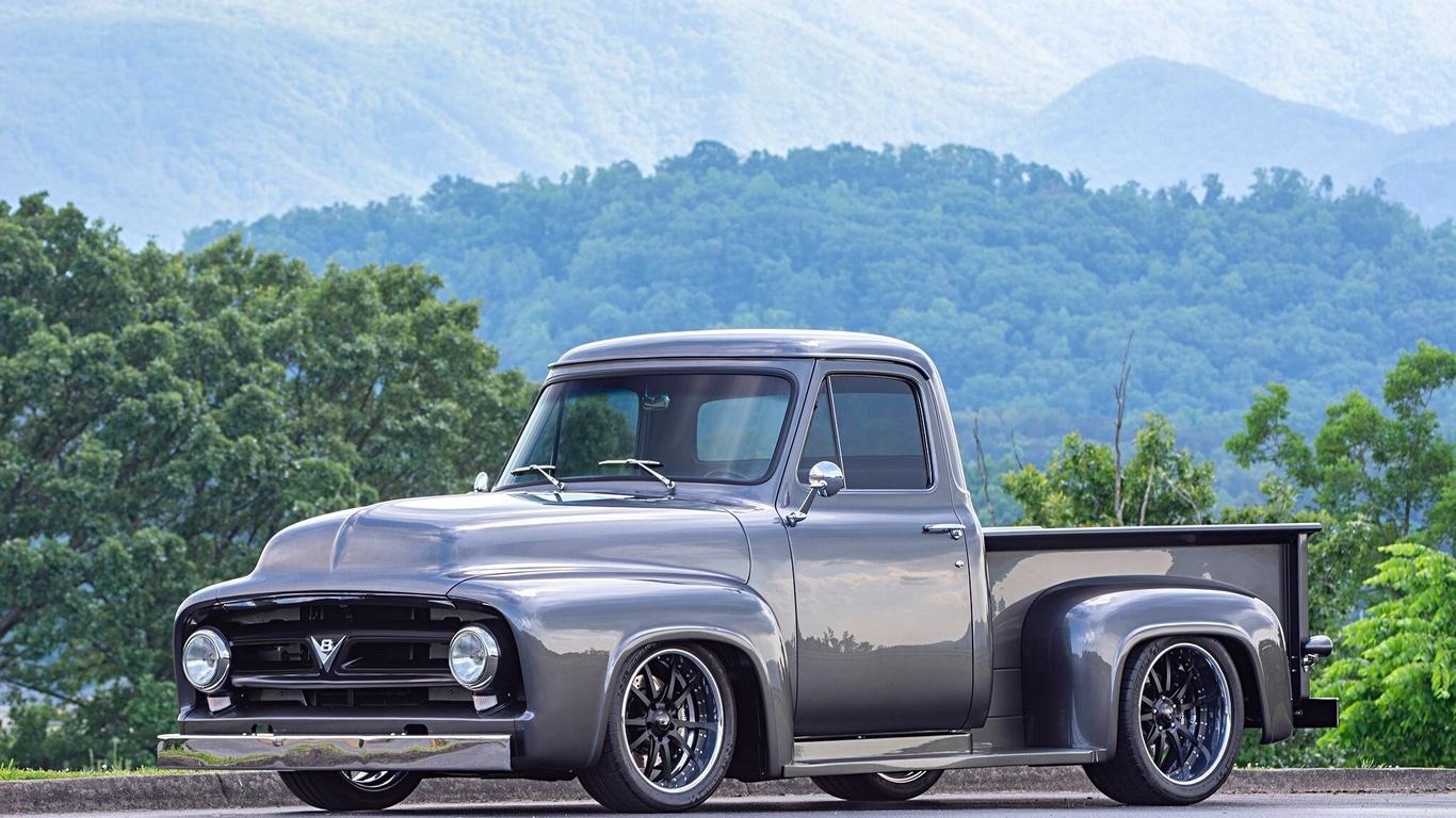 american, classic, car, custom, ford, f100