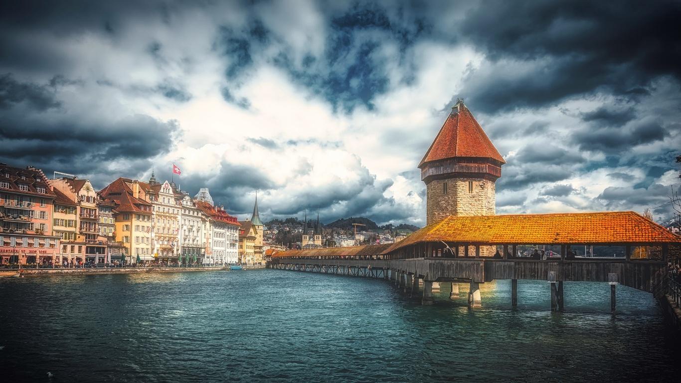 switzerland, luzern, старый, город