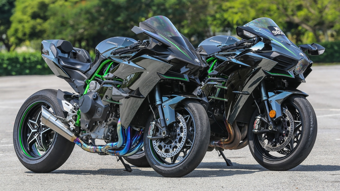 kawasaki, ninja, h2, мотоцикл, байк