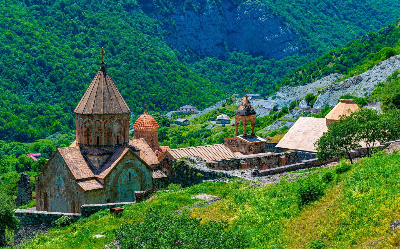 армения, горы, монастырь, dadivank, monastery, башня, природа