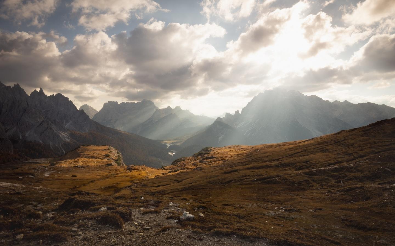 горы, свет, вершины